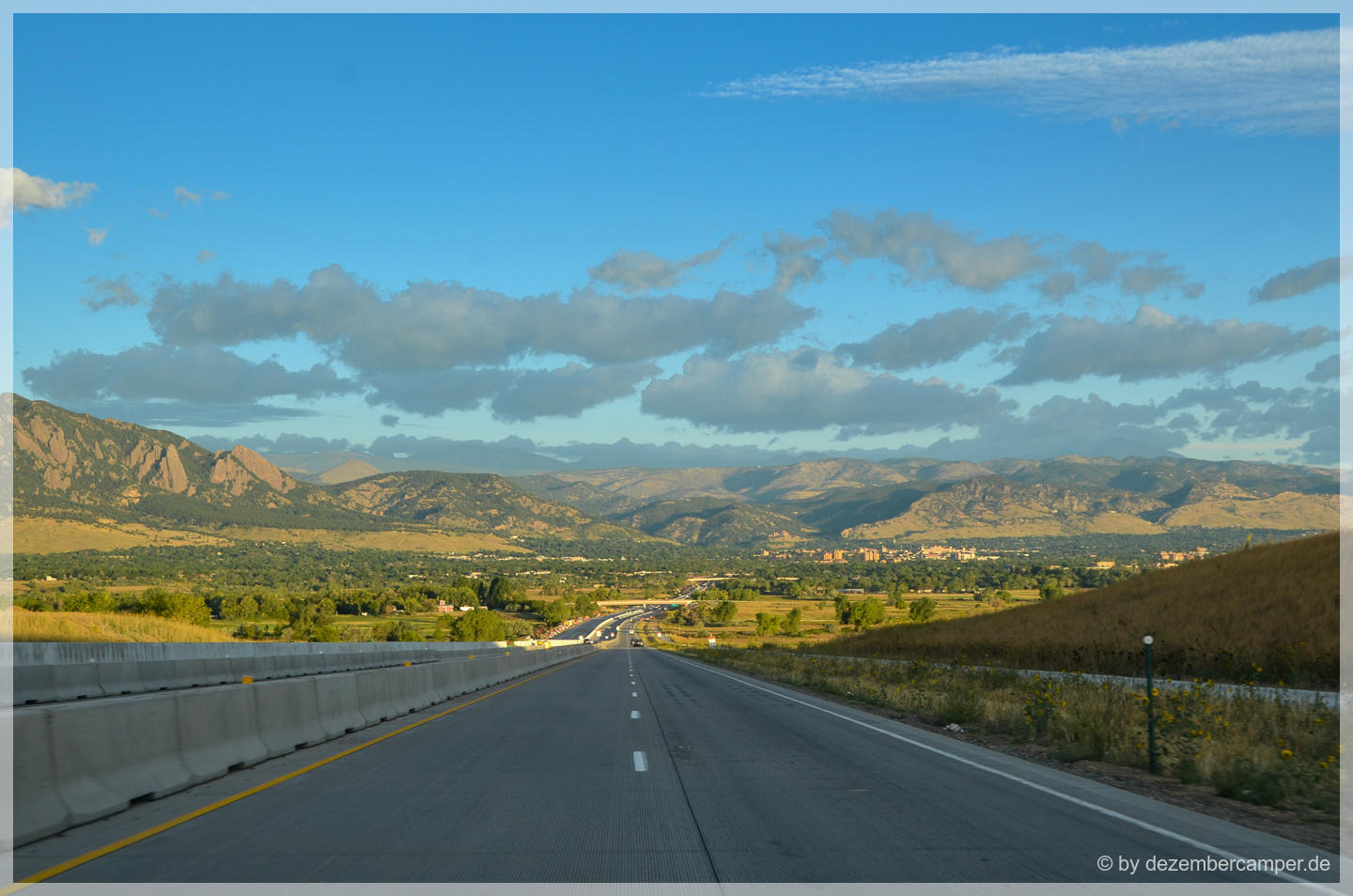 on the road to Boulder