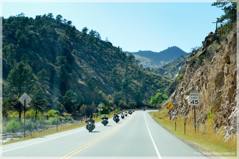 Fahrt zum Rocky Mountain NP