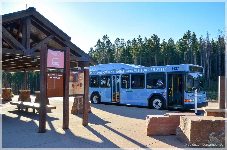 Bus-Shuttle im Rocky Mountain NP