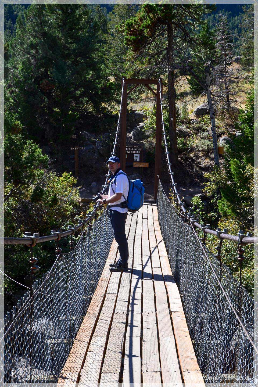 Sinks Canyon SP - Hängebrücke