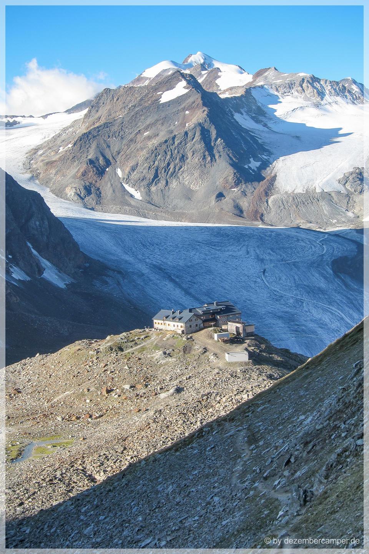 Blick zur Braunschweiger Hütte