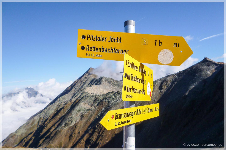 Aufstieg zum Pitztaler Jöchl
