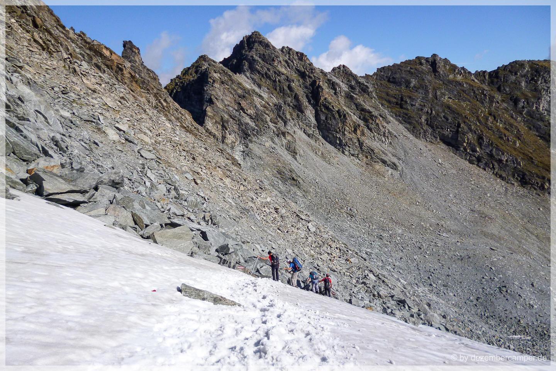 Abstieg zum Rettenbachjoch
