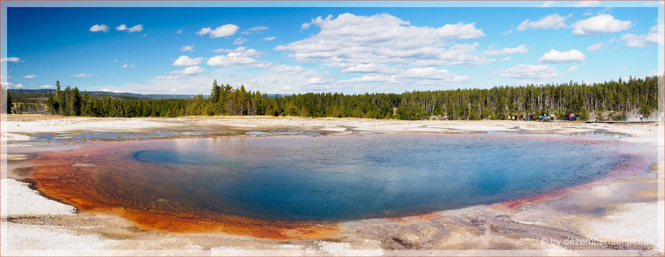 Yellowstone NP - Midway Geysir Basin - Turquoise Pool