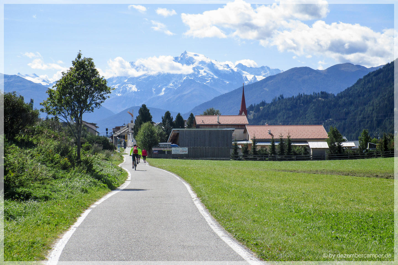 Mit dem Rad durch's Vinschgau